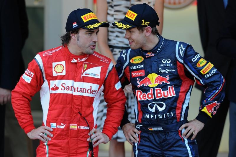 Fernando Alonso e Sebastian Vettel