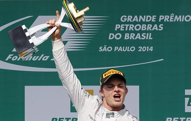 La gioia di Nico Rosberg per la vittoria in Brasile