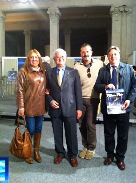 Gloria Perilla con Alberto Baciocchi - Presidente Ex Martinitt , Pietro Nunno - Giornalista e Alberto Costantini - Consiglio Direttivo